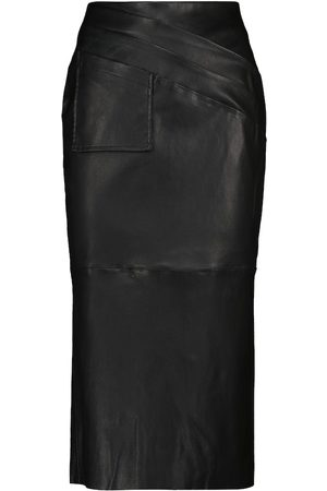 MATICEVSKI Gracious leather pencil skirt