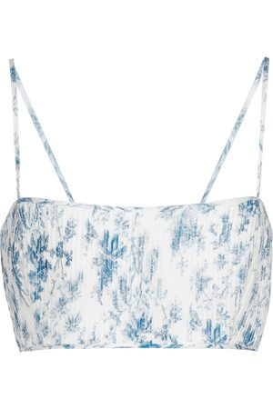 SIR Exclusive to Mytheresa – Clementine cotton and silk crop top