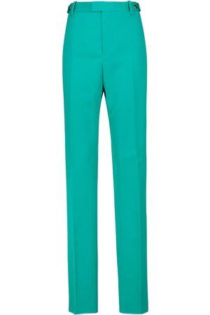 Bottega Veneta High-rise wool gabardine straight pants