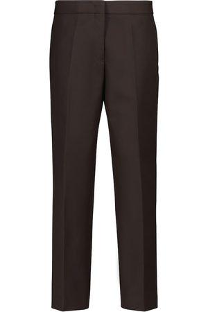 Jil Sander High-rise straight cotton pants