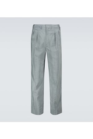 LEMAIRE Pleated silk-bend pants