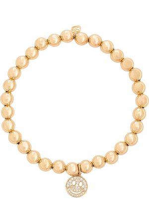 Sydney Evan Happy Face 14kt bracelet with diamonds