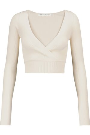 LIVE THE PROCESS Ribbed-knit wrap top