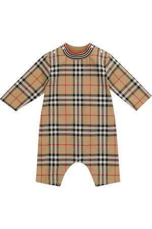 Burberry Baby Vintage Check stretch-cotton onesie