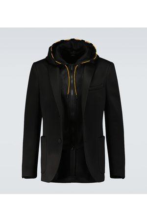 Fendi Hooded single-breasted blazer