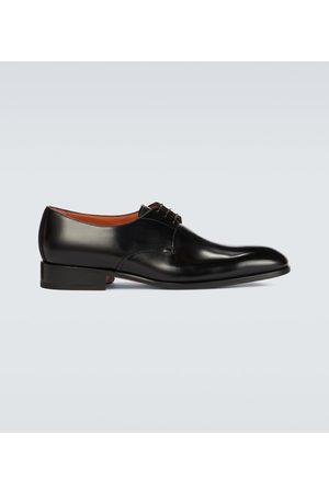 santoni Classic leather Derby shoes