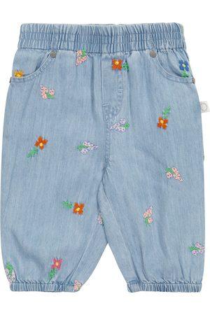 Stella McCartney Baby embroidered denim pants