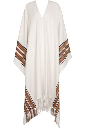 Loro Piana Exclusive to Mytheresa – The Suitcase Stripe cotton and linen cape