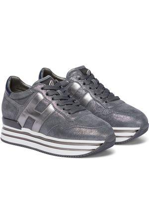 Hogan Midi Platform suede sneakers