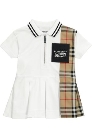 Burberry Kids Baby Vintage Check cotton piqué polo dress