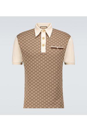 Gucci GG silk and cotton jacquard polo shirt