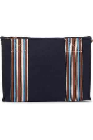 Loro Piana Exclusive to Mytheresa – The Suitcase Stripe canvas pouch