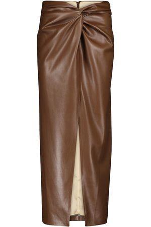 Nanushka Inci faux leather pencil skirt