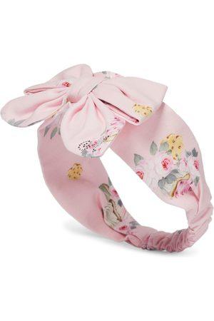 MONNALISA Baby floral cotton-blend headband