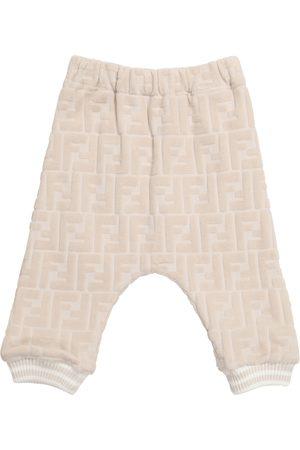 Fendi Baby FF cotton-blend chenille sweatpants
