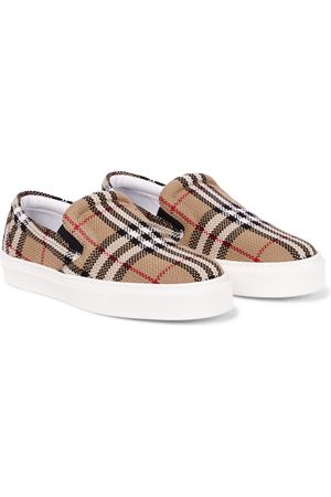 Burberry Vintage Check cotton slip-on sneakers