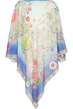 Etro Paisley silk chiffon poncho