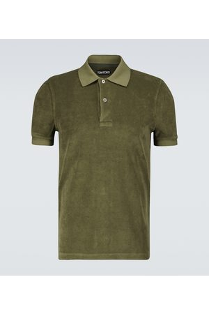 Tom Ford Cotton towelling polo shirt