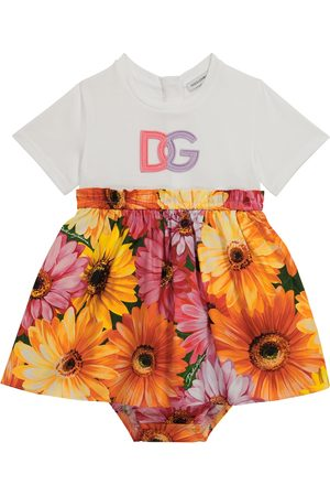 Dolce & Gabbana Baby cotton jersey and poplin dress