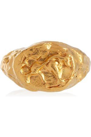 Alighieri Taurus 24kt -plated signet ring