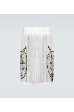 Burberry Marine sketch sheer plissé shorts