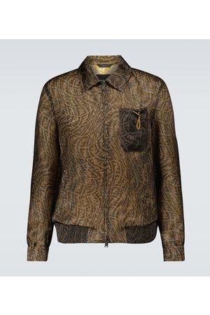 Fendi FF Vertigo organza shirt