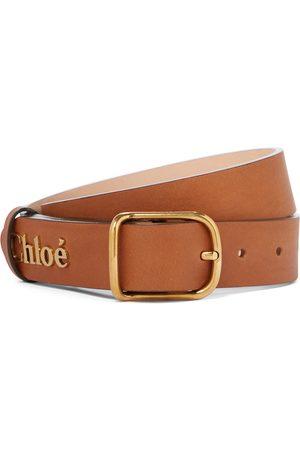 Chloé Logo leather belt