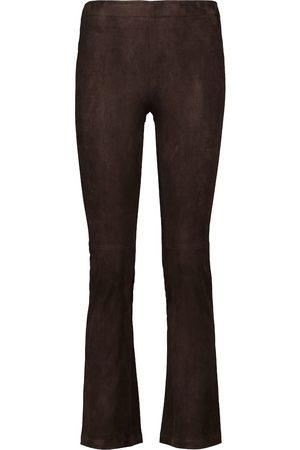 Stouls JP Twenty suede slim-flared pants
