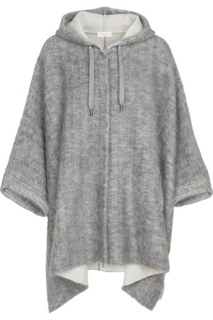 Brunello Cucinelli Hooded wool-blend poncho