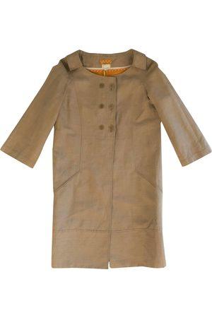 Nina Ricci Women Coats - Camel Linen Coats