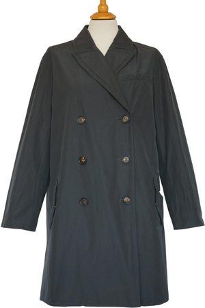 Brunello Cucinelli Anthracite Cotton Trench Coats