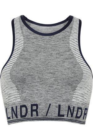 LNDR Grey Marl Aero sports bra