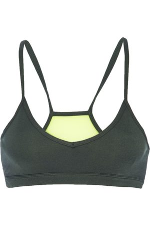 Good American Heathered Forest Barely There Bra