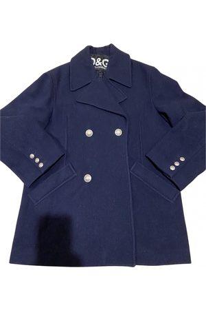 Dolce & Gabbana Navy Cotton Coats