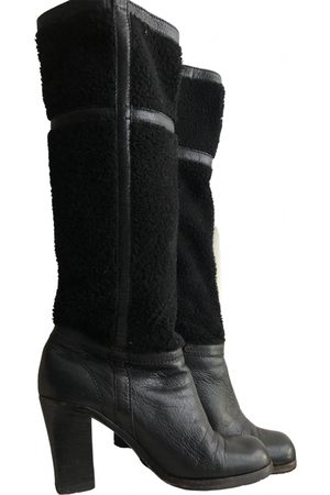 Céline Leather snow boots