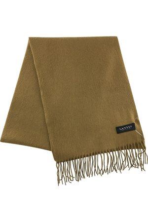 Lanvin Camel Cashmere Scarves & Pocket Squares