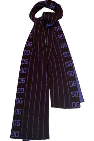 Dolce & Gabbana Navy Wool Scarves & Pocket Squares