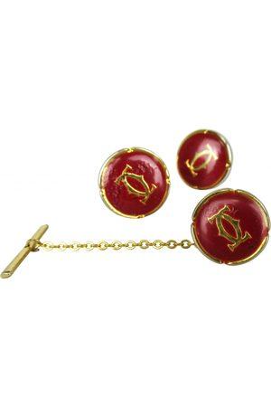 Cartier Burgundy Metal Cufflinks