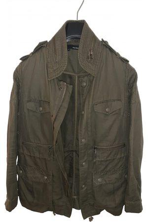 The Kooples Khaki Synthetic Leather Jackets