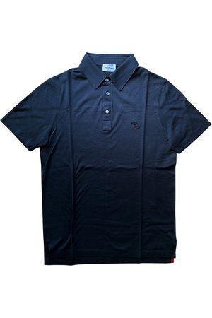Salvatore Ferragamo Navy Cotton Polo Shirts