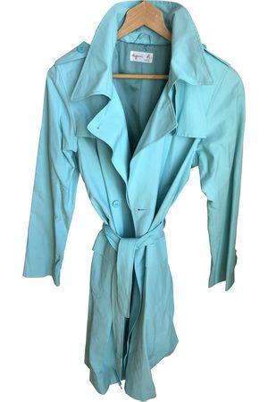 Agnès B. Turquoise Cotton Trench Coats