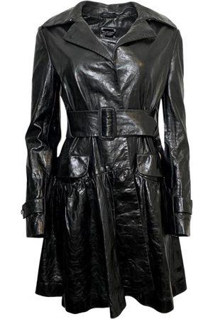 Philipp Plein Leather Trench Coats