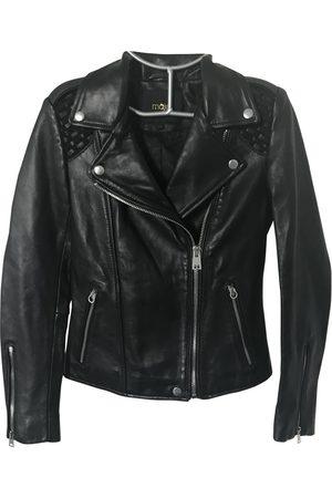 Maje Women Leather Jackets - Leather biker jacket