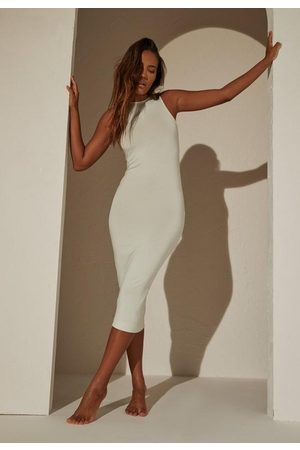 Missguided Re_Styld Mint Bodycon Midaxi Dress