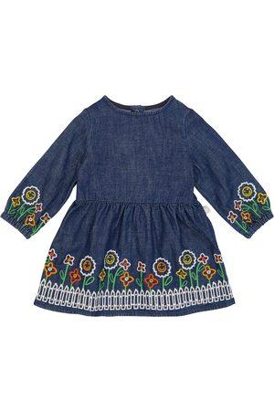 Stella McCartney Embroidered cotton denim dress