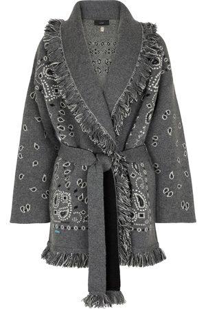 Alanui Bandana cashmere-blend jacquard wrap cardigan