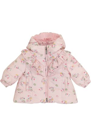 MONNALISA Coats - Baby floral quilted coat
