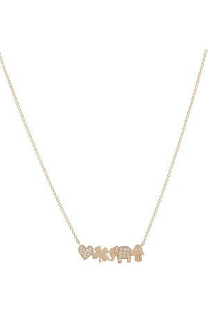 Sydney Evan Icon Bar 14kt necklace with diamonds