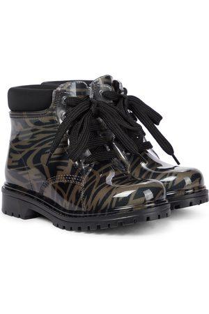 Fendi FF Vertigo printed rubber ankle boots