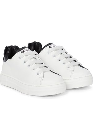 Moschino Teddy leather sneakers
